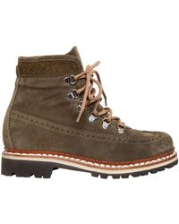 Tabitha Simmons - 30mm Bexley Embossed Suede Hiking Boots - Lyst