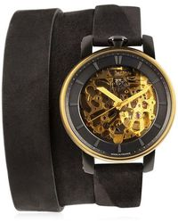 FOB PARIS - Rehab 360 Gold Wrap Around Watch - Lyst