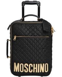 Moschino - Medium Quilted Nylon Trolley - Lyst