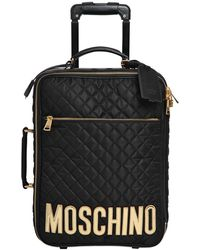 Moschino - Trolley Medio In Nylon Trapuntato - Lyst