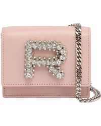 Rochas - Leather Bag W/ Crystal Logo - Lyst