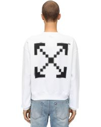 Off-White c/o Virgil Abloh - Oversize Printed Cotton Sweatshirt - Lyst