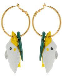 Nach - Palm & Cockatoo Pendant Earrings - Lyst