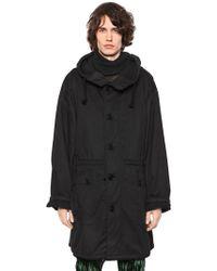 Ann Demeulemeester - Oversized Hooded Cotton Parka - Lyst
