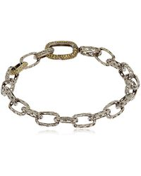 Marco Dal Maso - The Warrior Rectangular Links Bracelet - Lyst