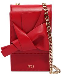 N°21 - Micro Bow Nappa Leather Shoulder Bag - Lyst