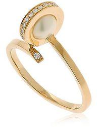 Delfina Delettrez - Seal Pearl Ring - Lyst