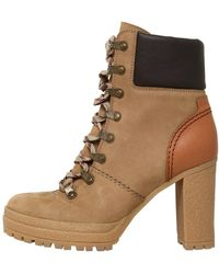 See By Chloé | 100mm Suede Lace Up Boots | Lyst