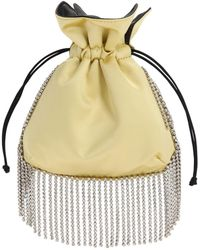 Les Petits Joueurs - Nano Trilly Embellished Satin Clutch - Lyst