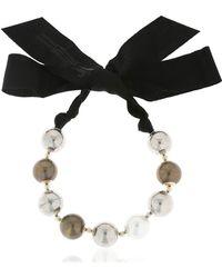 Lanvin - Faux Pearl Necklace - Lyst