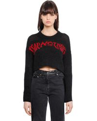 McQ - Fear Nothing Wool Cropped Jumper - Lyst