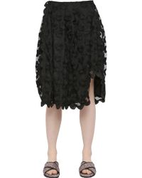 Simone Rocha - Floral Embroidered Tulle Skirt - Lyst