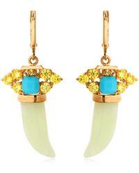 Iosselliani - Horn-shaped Jade Pendant Earrings - Lyst