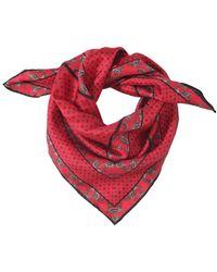 Ganni - Printed Silk Scarf - Lyst
