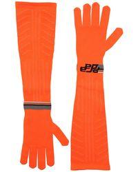 Prada - Logo Intarsia Tech Knit Long Gloves - Lyst
