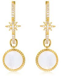 Apm Monaco - Star Earrings With Mother Of Pearl Charm - Lyst