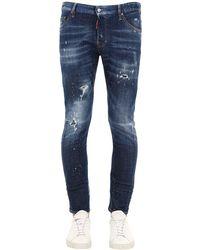 "DSquared² 16cm Jeans Aus Baumwolldenim ""sexy Twist"" - Blau"