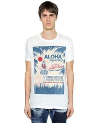 DSquared² - Aloha Printed Cotton Jersey T-shirt - Lyst