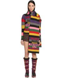 Etro - Intarsia Striped Wool Scarf - Lyst
