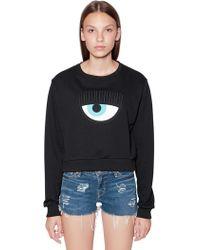 8818ba2a1 Chiara Ferragni - Eye Patch Cotton Sweatshirt - Lyst