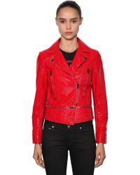 Versus - Coated Cotton Biker Jacket - Lyst