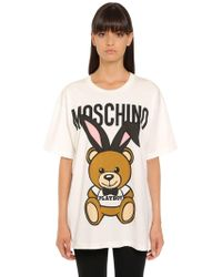 Moschino - Oversized Playboy Bear Jersey T-shirt - Lyst