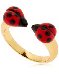 """Nach - Anello """"ladybugs Face To Face"""" - Lyst"""