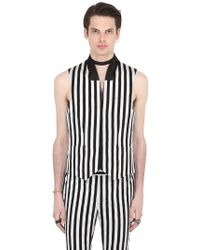 John Varvatos - Striped Cotton Vest - Lyst