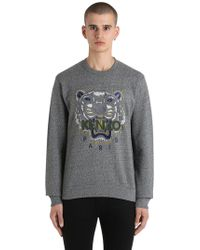 KENZO | Tiger Embroidered Cotton Sweatshirt | Lyst
