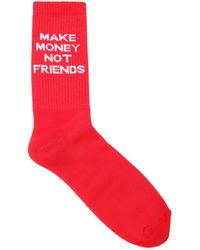 MAKE MONEY NOT FRIENDS - Calcetines De Mezcla De Algodón Con Logo - Lyst