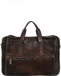 Numero 10 - Leather Briefcase Bag W/ Vintage Effect - Lyst