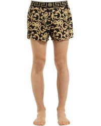 Versace - Baroque Nylon Swim Shorts - Lyst