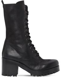 Strategia - 50mm Boston Leather Combat Boots - Lyst