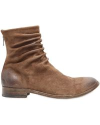 The Last Conspiracy - Wrinkled Washed Leather Ankle Boots - Lyst
