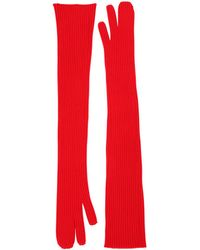 Maison Margiela - Long Rib Knit Gloves - Lyst