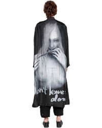 Yohji Yamamoto - Don't Leave Me Alone Printed Silk Coat - Lyst