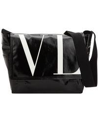 Valentino - Bolso De Vinilo Con Logo - Lyst