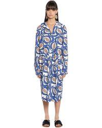 Marni - Printed Poplin Shirt Dress - Lyst