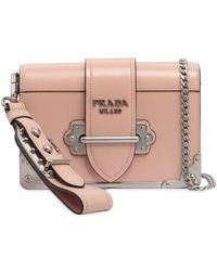 a23953956581 ... where can i buy prada small cahier polished leather bag lyst f1e6a 5eadf