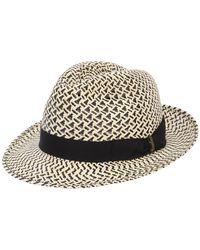 Borsalino - Ventilato Two Tone Panama Hat - Lyst