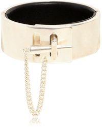 Maison Margiela - Metal Cuff Bracelet - Lyst