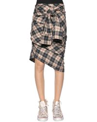 Faith Connexion - Check Plaid Heavy Gauze Shirt Skirt - Lyst