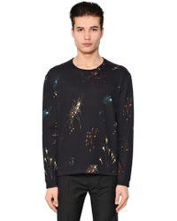 Valentino - Fireworks Print Techno Cotton Sweatshirt - Lyst