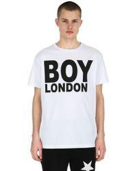 BOY London - Printed Jersey T-shirt - Lyst