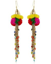 Rosantica - Rosita Pompom Earrings - Lyst