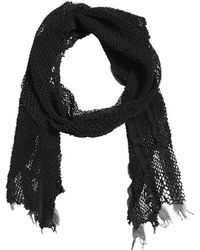 Cutuli Cult - Laser-cut Leather & Modal Cotton Scarf - Lyst