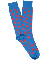 JW Anderson - Hearts Cotton Intarsia Knit Socks - Lyst