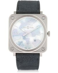 Bell & Ross - Brs Camouflage Steel Satin Strap - Lyst