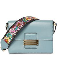 Etro - Small Rainbow Strap Leather Shoulder Bag - Lyst