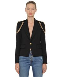 Veronica Beard - Chain Embellished Stretch Crepe Blazer - Lyst